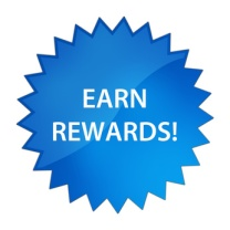 Earn Rewards! Blue star button