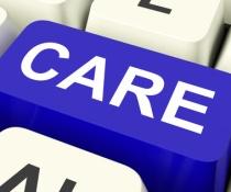 Care Keys Shows Concerned Or Caring.