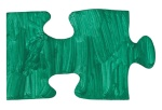 one blue piece of jigsaw puzzle